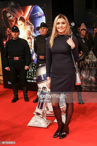 Anna Maria Damm attends the German premiere for the film 'Star Wars The Force Awakens' at Zoo Palast on December 16 2015 in Berlin Germany