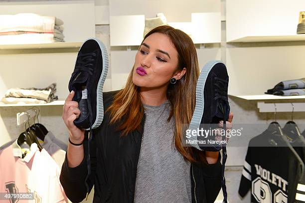 Anna Maria Damm attends the opening of the new PUMA flagship store with the new 'Forever Faster' store concept on November 19 2015 in Berlin Germany