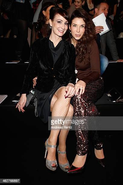 Anna Maria Kaufmann and Alexandra Polzin attend the Minx by Eva Lutz show during MercedesBenz Fashion Week Autumn/Winter 2014/15 at Brandenburg Gate...