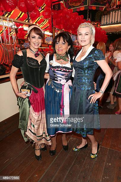 Anna Maria Kaufmann Regine Sixt and Kriemhild Siegel attend the Regines Sixt Damen Wiesn during the Oktoberfest 2015 on September 21 2015 in Munich...