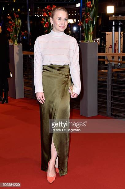Anna Maria Mühe attends the 'Hail Caesar' premiere during the 66th Berlinale International Film Festival Berlin at Berlinale Palace on February 11...