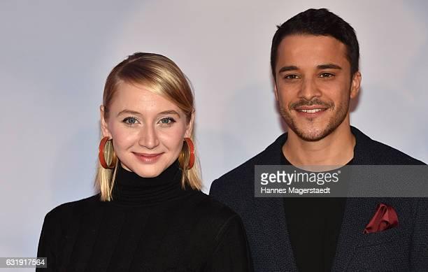 Anna Maria Muehe and Kostja Ullmann during the 'Mein Blind Date mit dem Leben' Munich Premiere at Mathaeser Filmpalast on January 17 2017 in Munich...