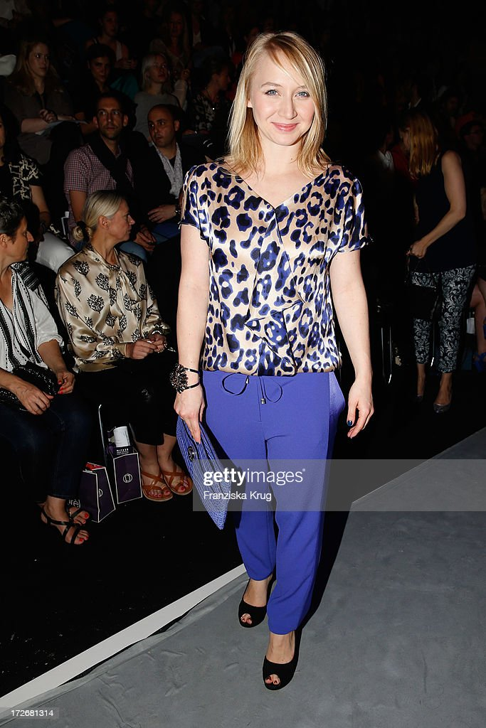 Anna Maria Muehe attends the Laurel Show during the Mercedes-Benz Fashion Week Spring/Summer 2014 at Brandenburg Gate on July 4, 2013 in Berlin, Germany.