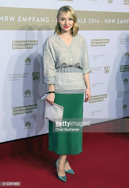 Anna Maria Muehe attends the NRW Reception at the Landesvertretung during the 66th Berlinale International Film Festival on February 14 2016 in...