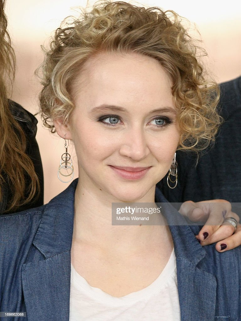 Anna Maria Muehe attends the Photocall on set of 'Nicht mein Tag' on May 13, 2013 in Cologne, Germany.