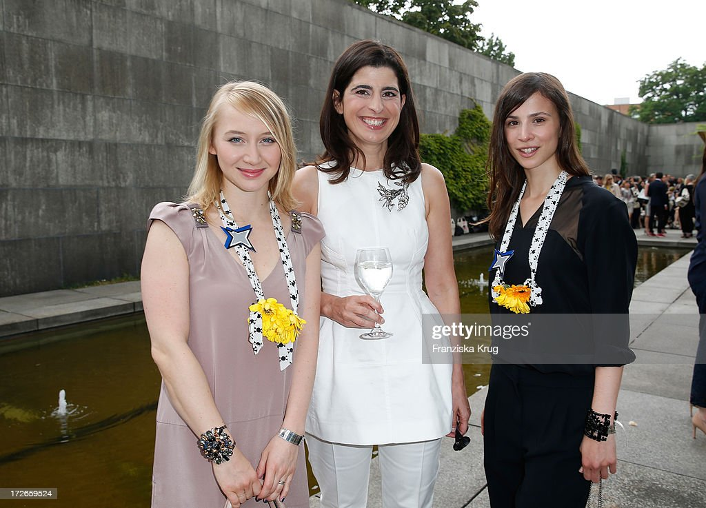 Anna Maria Muehe, Dorothee Schumacher and Aylin Tezel at the Schumacher After Show Party at Brandenburg Gate on July 4, 2013 in Berlin, Germany.
