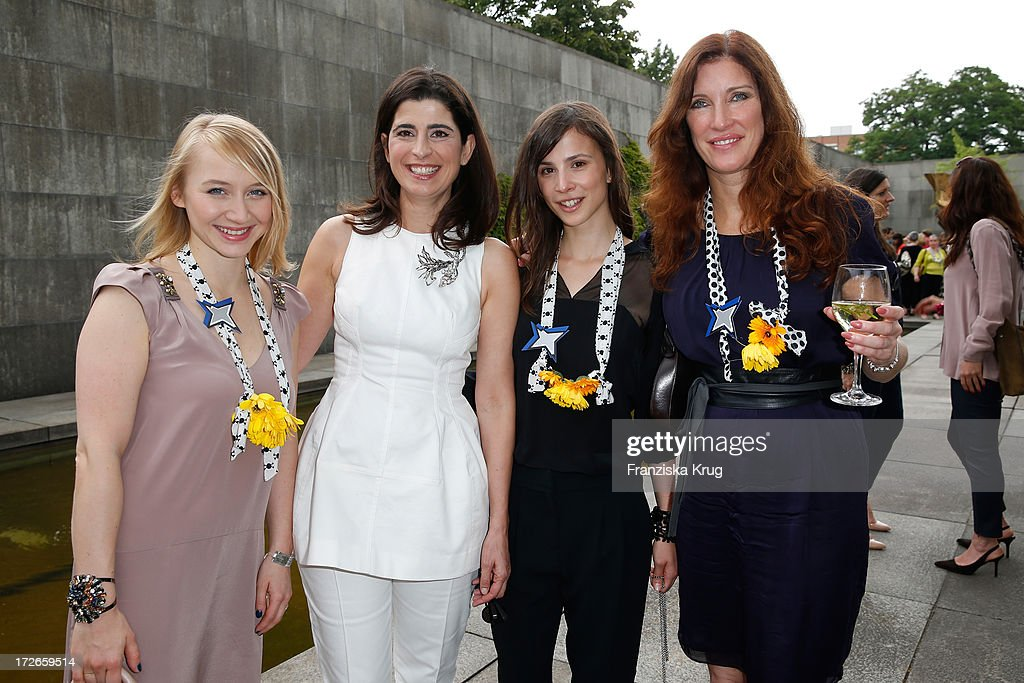 Anna Maria Muehe, Dorothee Schumacher, Aylin Tezel and Natalia Woerner at the Schumacher After Show Party at Brandenburg Gate on July 4, 2013 in Berlin, Germany.