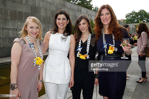 Anna Maria Muehe Dorothee Schumacher Aylin Tezel and Natalia Woerner at the Schumacher After Show Party at Brandenburg Gate on July 4 2013 in Berlin...