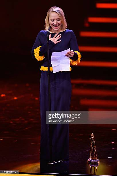 Anna Maria Muehe is seen on stage during the Bambi Awards 2016 show at Stage Theater on November 17 2016 in Berlin Germany