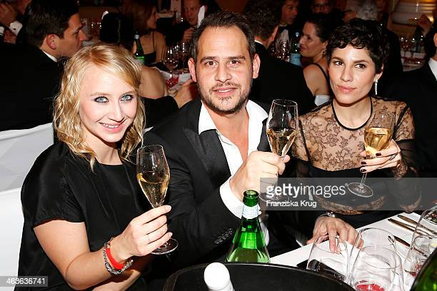 Anna Maria Muehe Moritz Bleibtreu and Jasmin Gerat attend the German Film Ball 2014 on January 18 2014 in Munich Germany