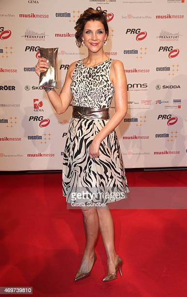 Anna Maria Zimmermann during the LEA Live Entertainment Award 2015 at Festhalle Frankfurt on April 14 2015 in Frankfurt am Main Germany