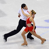 Anna Marie Pearce and Mark Magyar of Hungary perform during Pairs Free Skating on day four of the ISU European Figure Skating Champinships 2016 on...