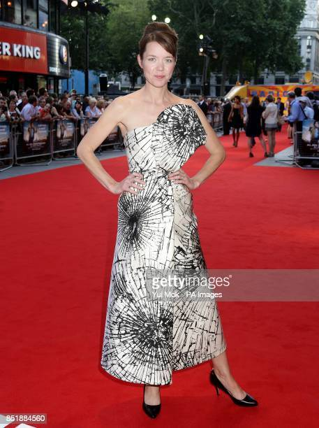 Anna Maxwell Martin arriving for the premiere of Alan Partridge Alpha Papa at the Vue West End in Leicester Square central London