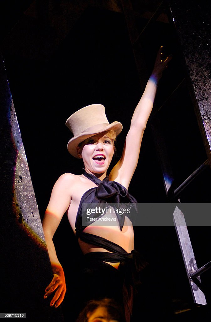 Anna Maxwell Martin as Sally Bowles performs in a dress rehersal of 'Cabaret' at the Lyric Theatre Shaftsbury Avenue