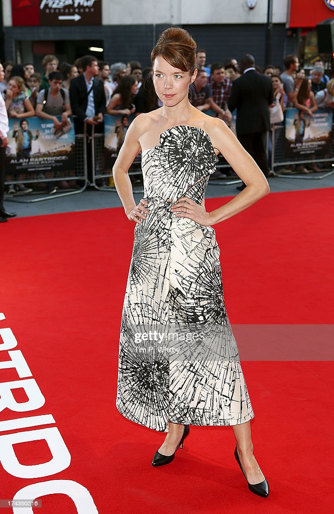 Anna Maxwell Martin attends the 'Alan Partridge: Alpha Papa' World Premiere Day at Vue Leicester Square on July 24, 2013 in London, England.