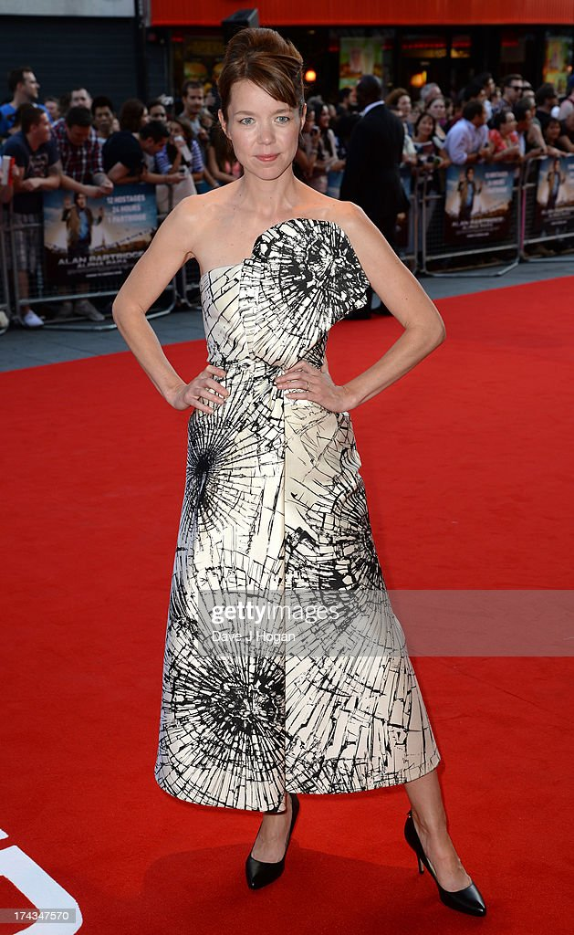 Anna Maxwell Martin attends the London Premiere of 'Alan Partidge: Alpha Papa' at Vue Leicester Square on July 24, 2013 in London, England.