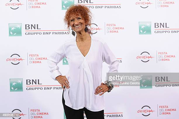 Anna Mazzamauro attends a photocall for 'Fantozzi' during the 10th Rome Film Fest on October 23 2015 in Rome Italy