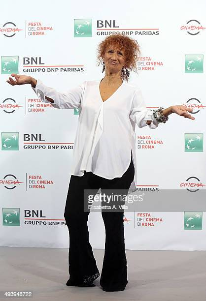 Anna Mazzamauro attends a photocall for 'Fantozzi' during the 10th Rome Film Fest at Auditorium Parco Della Musica on October 23 2015 in Rome Italy