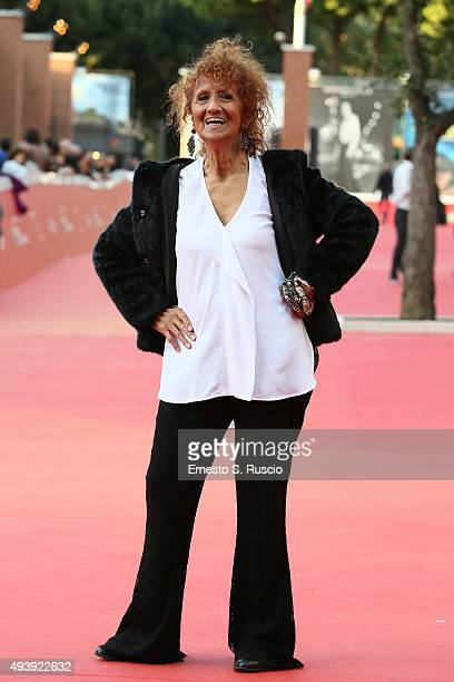 Anna Mazzamauro attends a red carpet for 'Fantozzi' during the 10th Rome Film Fest on October 23 2015 in Rome Italy