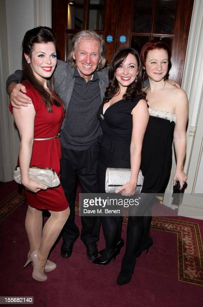 Anna McGarahan Tommy Steele Sarah Earnshaw and Nikki Gerrard attend the press night performance of 'Scrooge The Musical' at the London Palladium on...