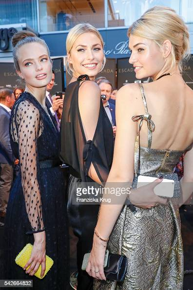 Anna Mila Guyenz Lena Gercke and Luisa Hartema attend the ESCADA Flagship Store Opening on June 23 2016 in Duesseldorf Germany
