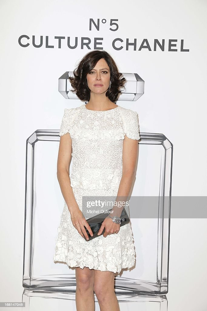Anna Moglalis attends the 'No5 Culture Chanel' Exhibition - Photocall at Palais De Tokyo on May 3, 2013 in Paris, France.