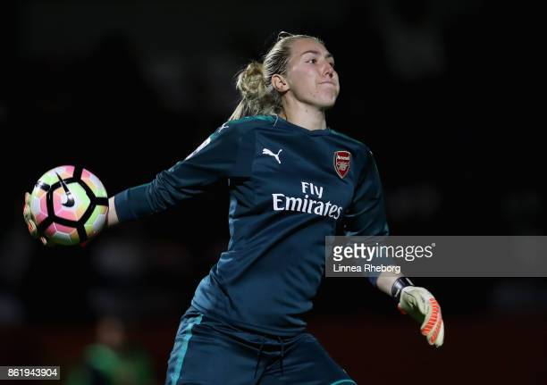 Anna Moorhouse of Arsenal in action during the FA WSL Continental Cup match between Arsenal and London Bees on October 12 2017 in Borehamwood United...