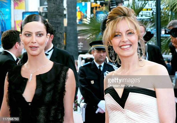 Anna Mouglalis and Greta Scacchi during 2004 Cannes Film Festival 2046 Premiere at Palais Du Festival in Cannes France