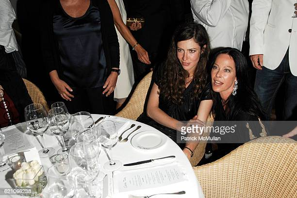 Anna Mouglalis and Lady Amanda Harlech attend CHANEL Private Dinner for KARL LAGERFELD at Casa Tua on May 14 2008 in Miami Beach FL