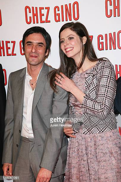 Anna Mouglalis and Samuel Benchetrit attend the 'Chez Gino' Paris premiere at Cinema Gaumont Opera on March 29 2011 in Paris France