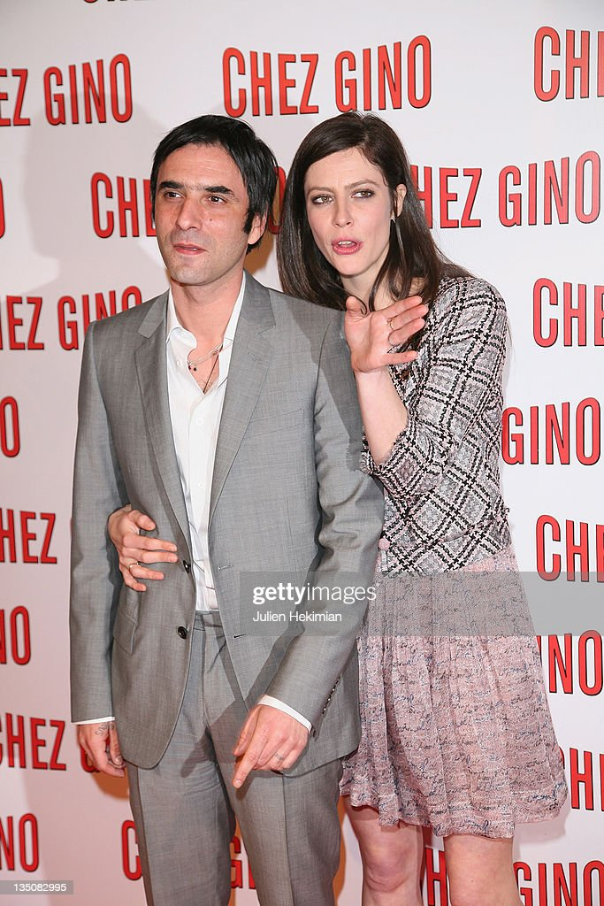 Anna Mouglalis (R) and Samuel Benchetrit attend the 'Chez Gino' Paris premiere at Cinema Gaumont Opera on March 29, 2011 in Paris, France.