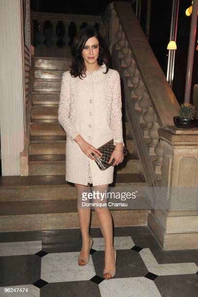 Anna Mouglalis attends Fashion Dinner for AIDS at Pavillon d'Armenonville on January 28 2010 in Paris France
