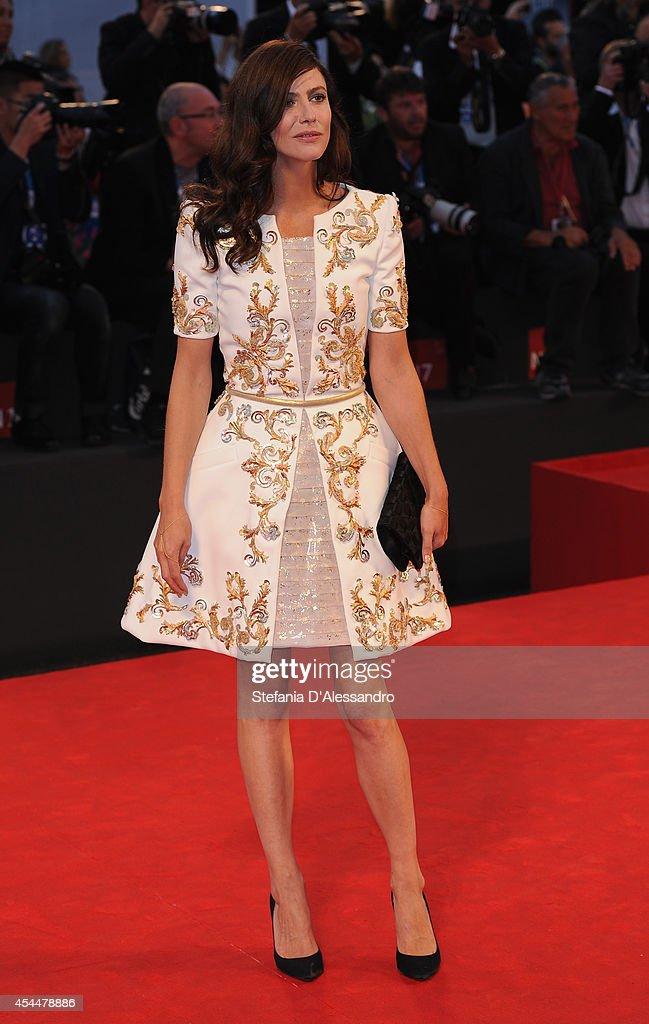 Anna Mouglalis attends 'Il Giovane Favoloso' Premiere on September 1, 2014 in Venice, Italy.