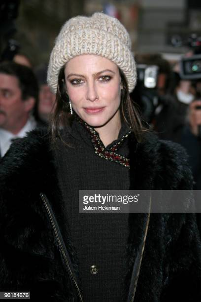 Anna Mouglalis attends the Chanel HauteCouture show as part of Paris Fashion Week Spring/Summer 2010 at Pavillon Cambon Capucines on January 26 2010...