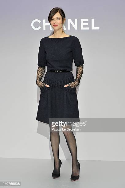Anna Mouglalis attends the Chanel ReadyToWear Fall/Winter 2012 show as part of Paris Fashion Week at Grand Palais on March 6 2012 in Paris France