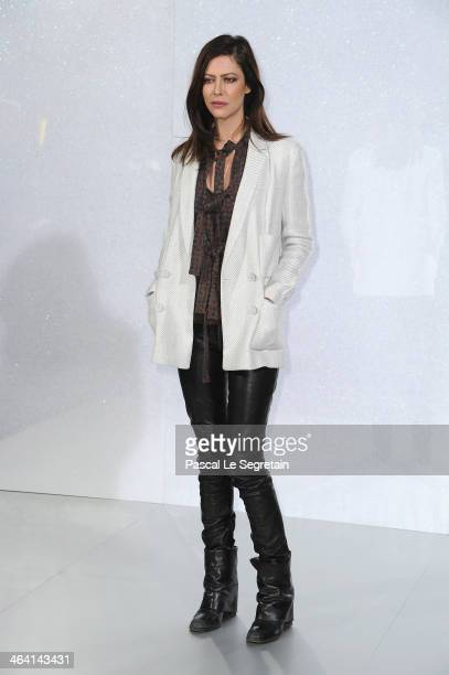 Anna Mouglalis attends the Chanel show as part of Paris Fashion Week Haute Couture Spring/Summer 2014 on January 21 2014 in Paris France