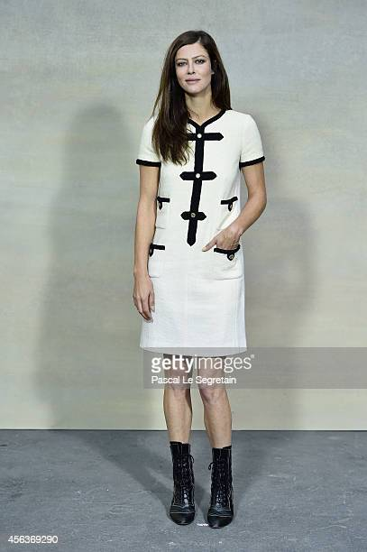 Anna Mouglalis attends the Chanel show as part of the Paris Fashion Week Womenswear Spring/Summer 2015 on September 30 2014 in Paris France
