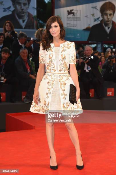 Anna Mouglalis attends the 'Il Giovane Favoloso' premiere during the 71st Venice Film Festival at Sala Grande on September 1 2014 in Venice Italy