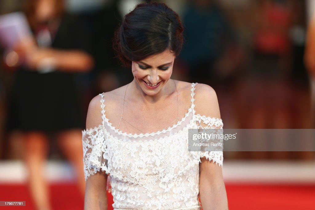 <a gi-track='captionPersonalityLinkClicked' href=/galleries/search?phrase=Anna+Mouglalis&family=editorial&specificpeople=611934 ng-click='$event.stopPropagation()'>Anna Mouglalis</a> attends the 'Jealousy' Premiere during the 70th Venice International Film Festival at the Palazzo del Cinema on September 5, 2013 in Venice, Italy.