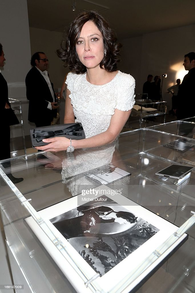 Anna Mouglalis attends the 'No5 Culture Chanel' Exhibition - Photocall at Palais De Tokyo on May 3, 2013 in Paris, France.