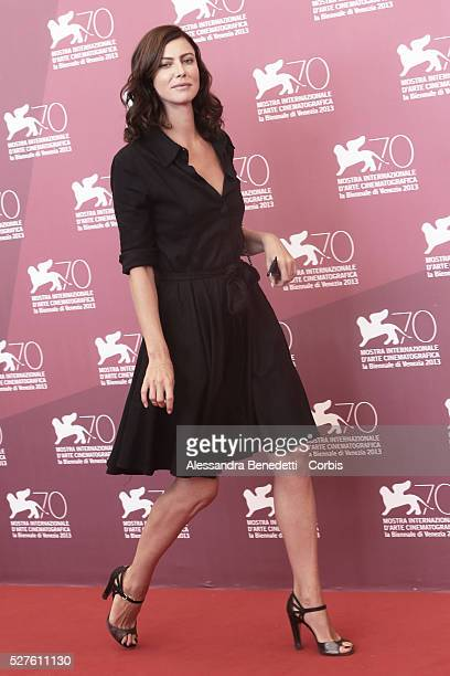 Anna Mouglalis attends the photocall of movie La Jalousie presented in competition at the 70th International Venice Film Festival