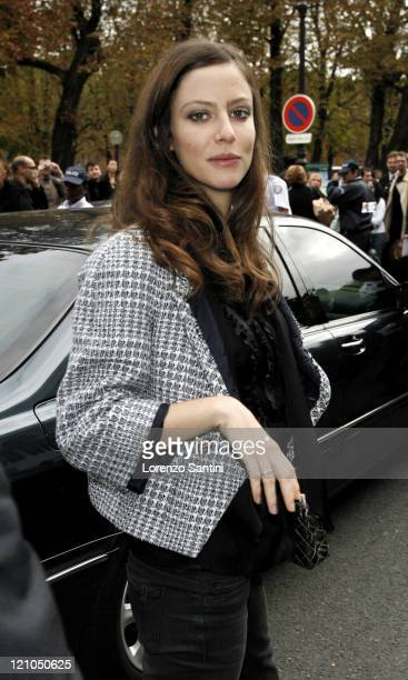 Anna Mouglalis during Paris Fashion Week Spring/Summer 2007 Chanel Arrivals at Grand Palais in Paris France