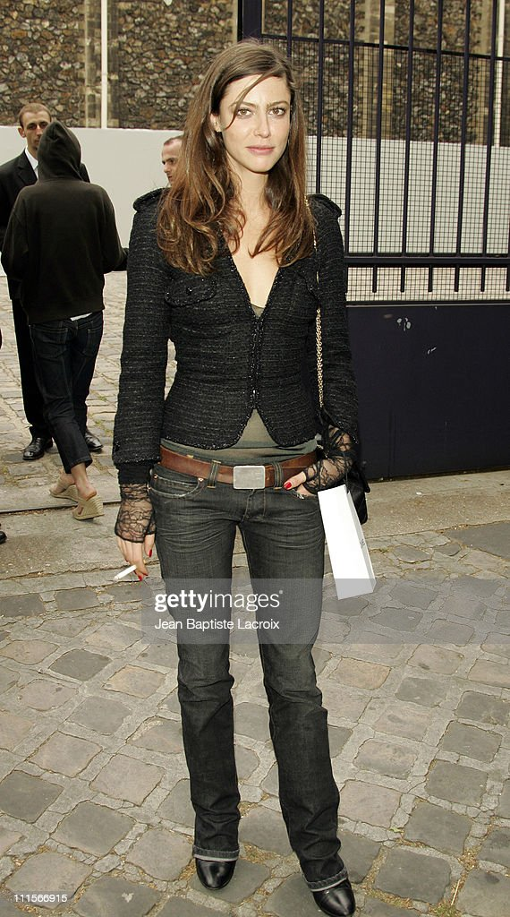 <a gi-track='captionPersonalityLinkClicked' href=/galleries/search?phrase=Anna+Mouglalis&family=editorial&specificpeople=611934 ng-click='$event.stopPropagation()'>Anna Mouglalis</a> during Paris Haute Couture Fashion Week - Fall/Winter 2005 - Chanel - Arrivals in Paris, France.