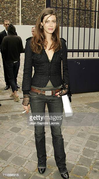 Anna Mouglalis during Paris Haute Couture Fashion Week Fall/Winter 2005 Chanel Arrivals in Paris France
