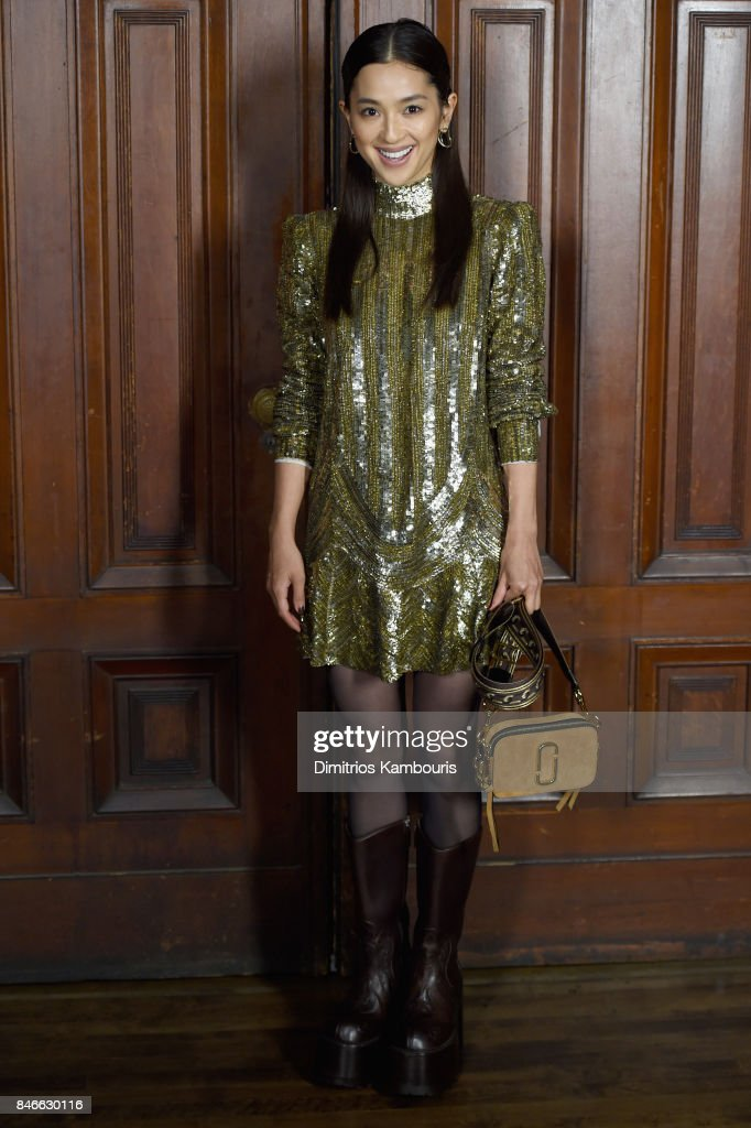 Anna Nakamura attends Marc Jacobs SS18 fashion show during New York Fashion Week at Park Avenue Armory on September 13, 2017 in New York City.