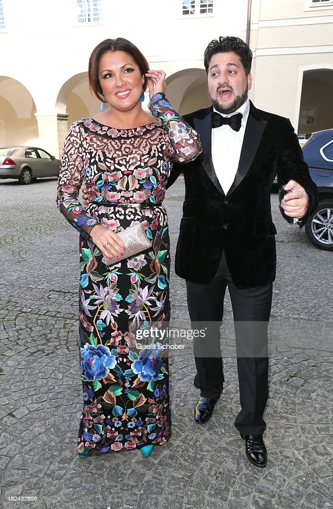 <a gi-track='captionPersonalityLinkClicked' href=/galleries/search?phrase=Anna+Netrebko&family=editorial&specificpeople=732328 ng-click='$event.stopPropagation()'>Anna Netrebko</a> and her fiance Yusif Eyvazov attend the 40 year stage anniversary of Placido Domingo during the Salzburg Festival (German: Salzburger Festspiele) on July 30, 2015 in Salzburg, Austria.