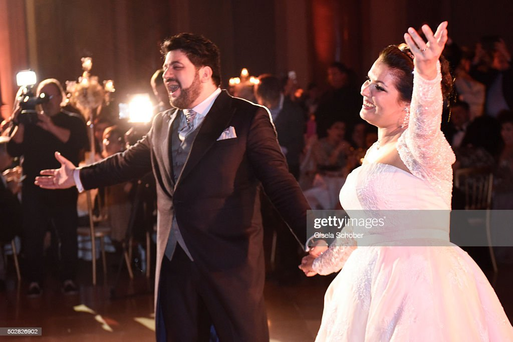 <a gi-track='captionPersonalityLinkClicked' href=/galleries/search?phrase=Anna+Netrebko&family=editorial&specificpeople=732328 ng-click='$event.stopPropagation()'>Anna Netrebko</a> and Yusif Eyvazov after their wedding dance at their wedding at Palais Liechtenstein on December 29, 2015 in Vienna, Austria.
