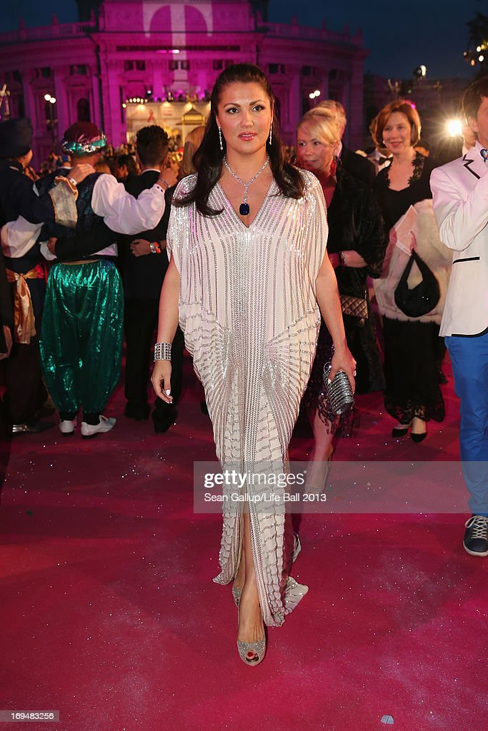 <a gi-track='captionPersonalityLinkClicked' href=/galleries/search?phrase=Anna+Netrebko&family=editorial&specificpeople=732328 ng-click='$event.stopPropagation()'>Anna Netrebko</a> attends the 'Life Ball 2013 - Magenta Carpet Arrivals' at City Hall on May 25, 2013 in Vienna, Austria.