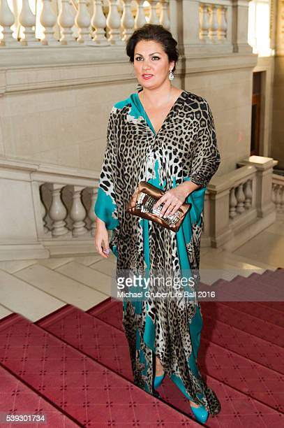 Anna Netrebko attends the Red Ribbon Celebration Concert at Burgtheater on June 10 2016 in Vienna Austria The Red Ribbon Celebration Concert is a...