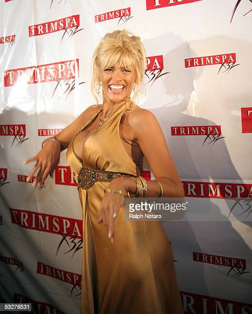 Anna Nicole Smith arrives for a Trimspa party at Passions Night Club in the Seminole Paradise Hard Rock Hotel and Casino on July 22 2005 in Hollywood...